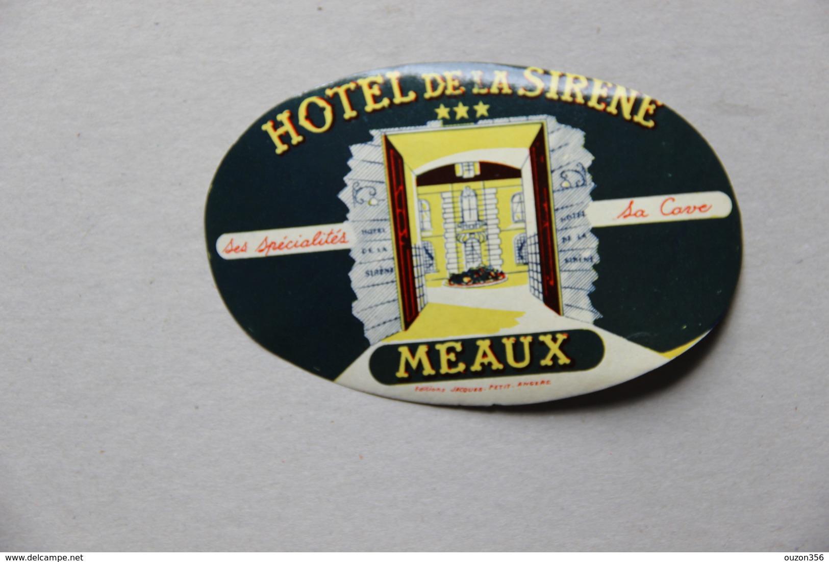 Etiquette Hôtel De La Sirène à Meaux (Seine-et-Marne) - Hotel Labels