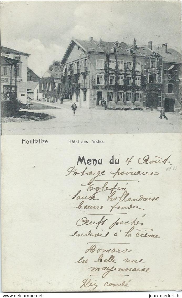 Houffalize - Hôtel Des Postes - Menu Du 4 Août 1911 - Houffalize
