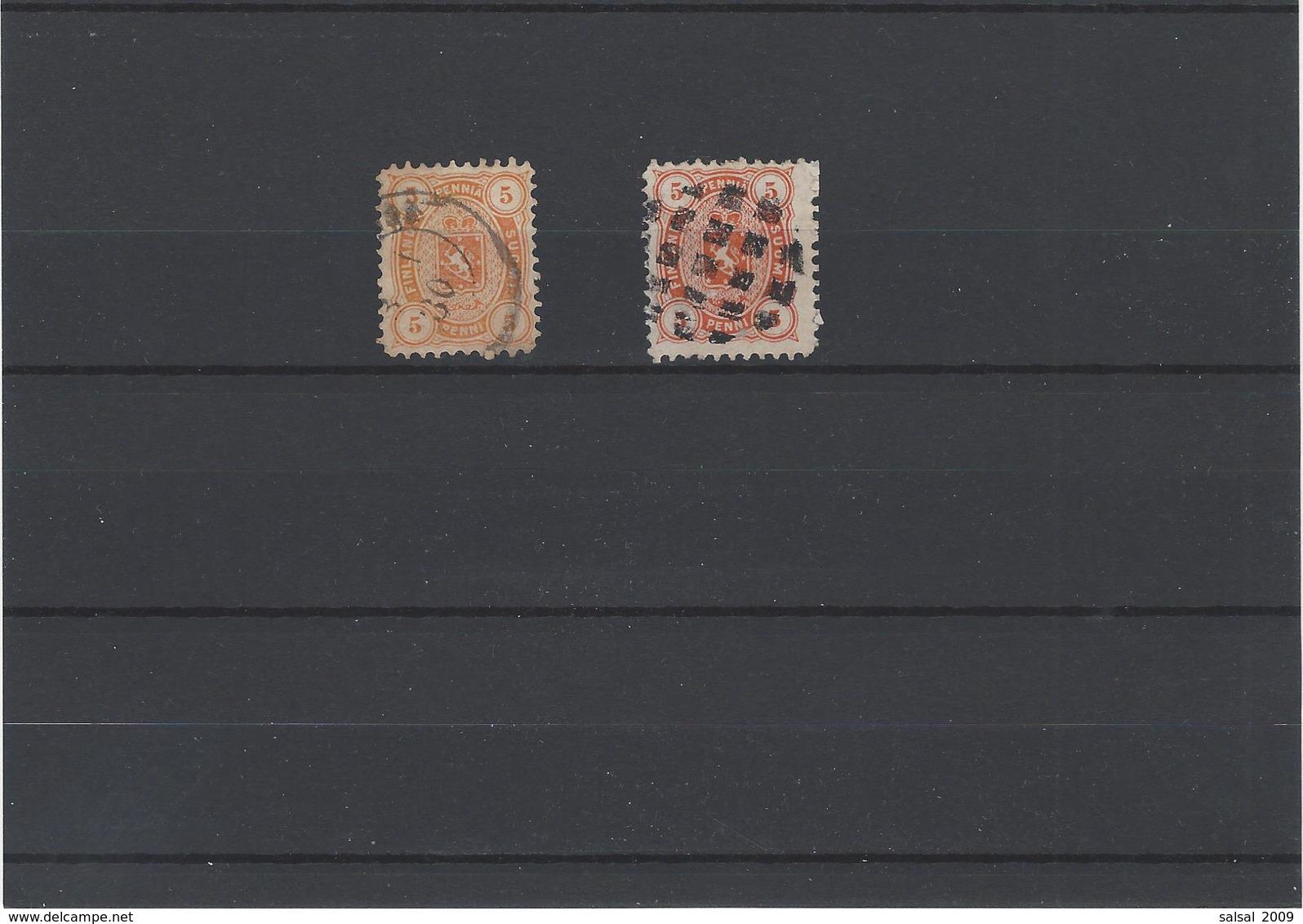Finlandia ,usati Di Colore Diversi ,2 Pezzi - Oblitérés