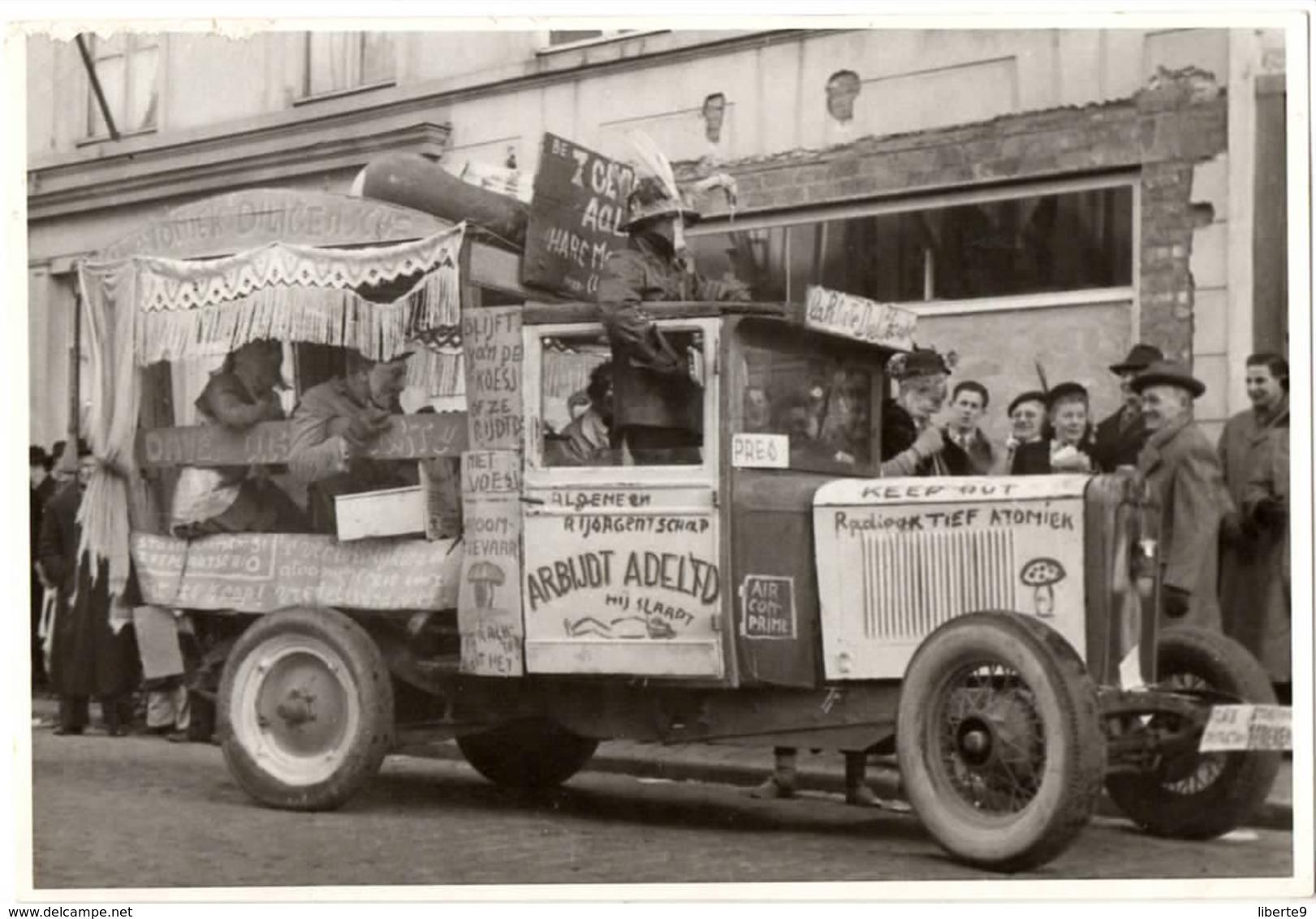 Camion 1953 Carnaval Aalst Alost  - Photo C.86 X 124mm Belgique - Automobiles