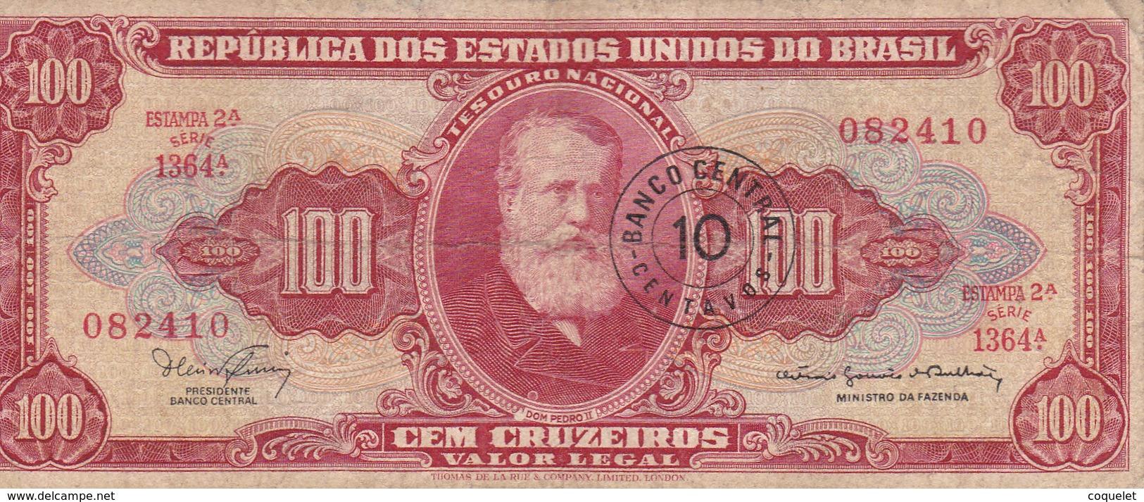 Brésil - Billet De Banque 10 Centavos Novo 1966/67 - Brasilien