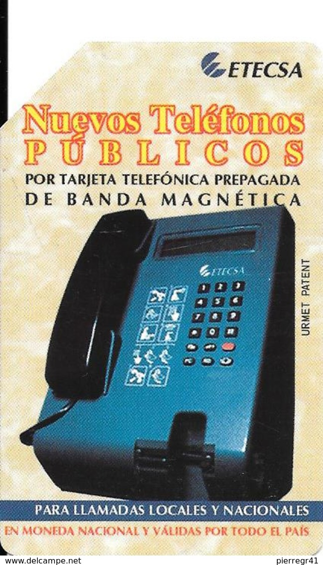 CARTE MAGNETIQUE-CUBA-ETECSA-7 Pesos-NUEVOS TELEPHONOS-UTILISE-TBE-RARE - Cuba