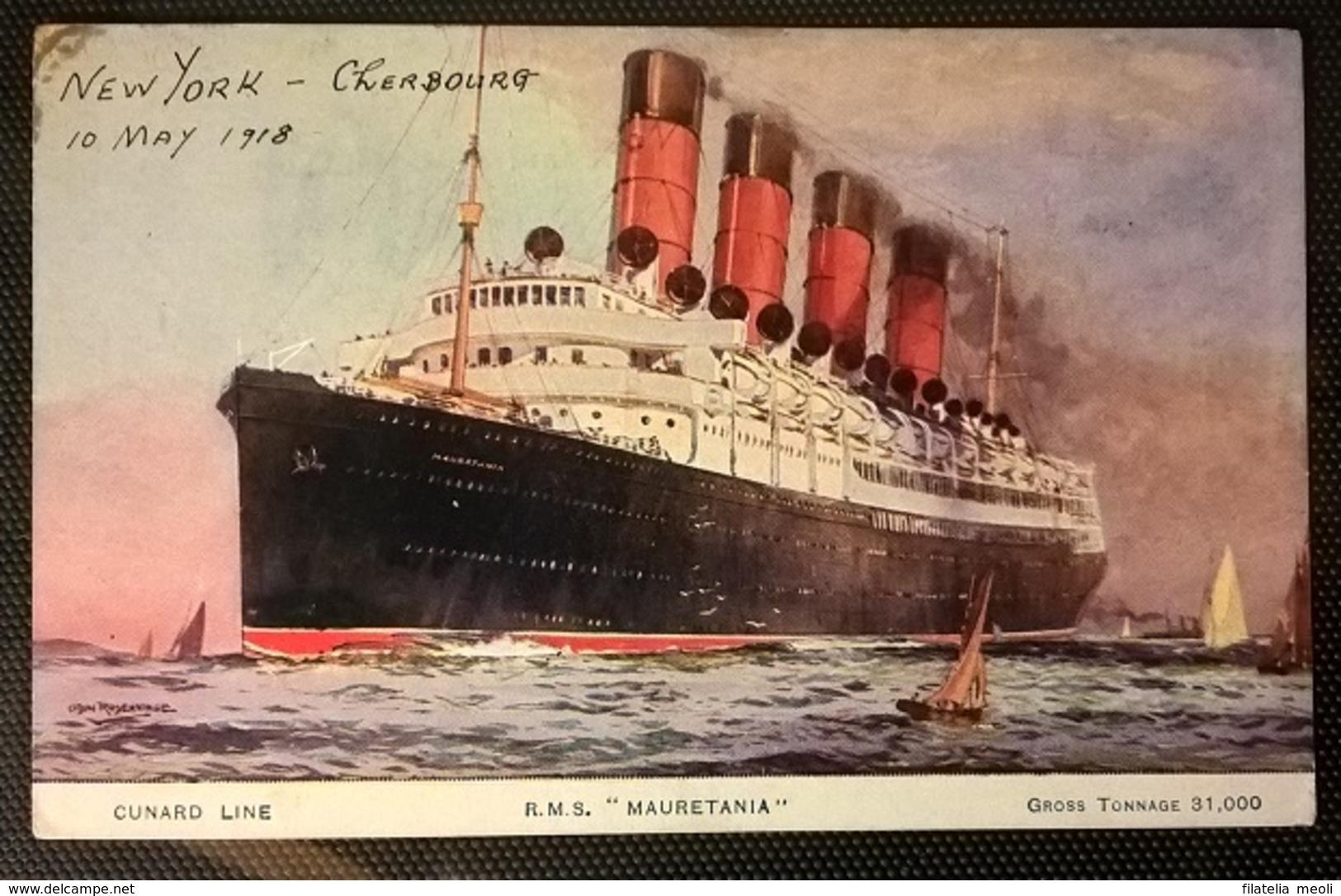 TRANSATLANTICI - RMS MAURETANIA - Barche