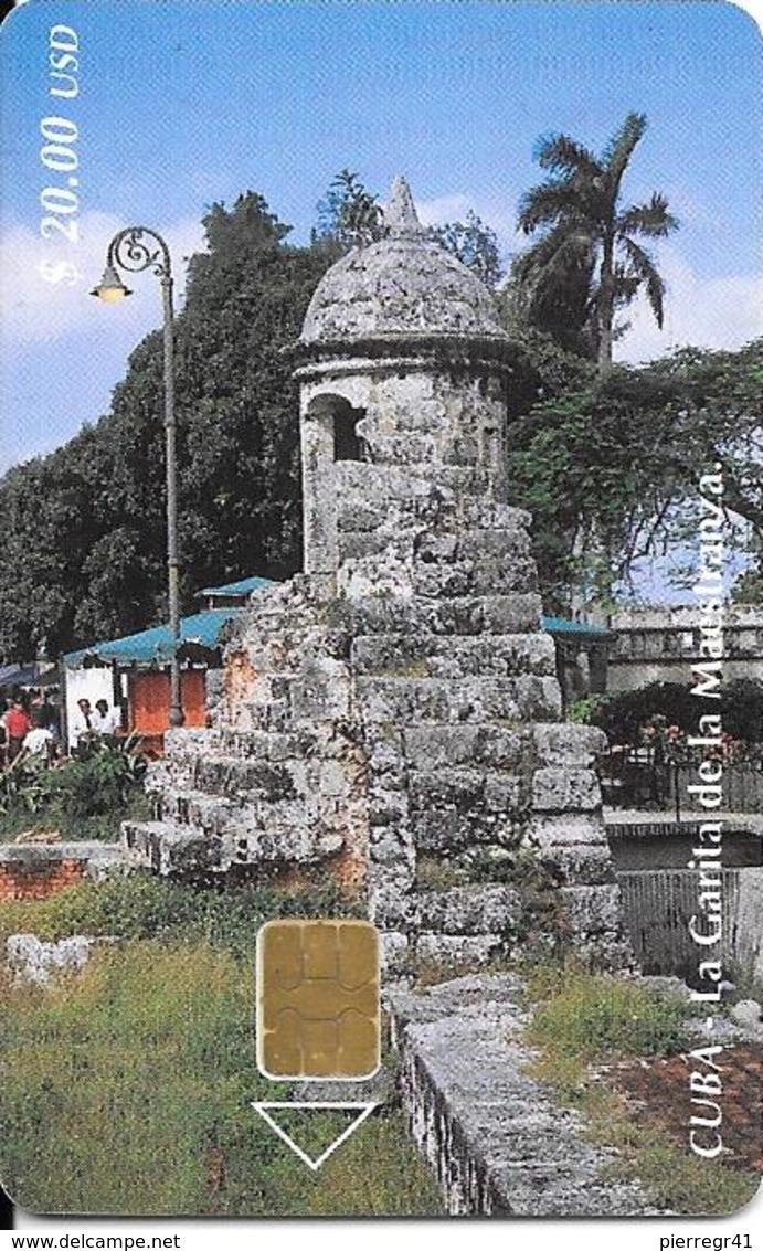 CARTE PUCE-CUBA-ETECSA--20USD -GARITA De LaMAESTRANZA-R°Glacé-UTILISE-TBE-RARE - Cuba