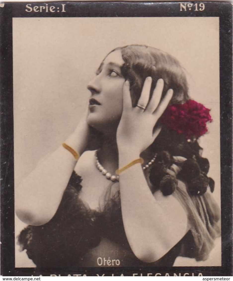 OTERO. HABANILLOS LA PLATA. COLORISE. CARD TARJETA COLECCIONABLE TABACO. CIRCA 1915 SIZE 4.5x5.5cm - BLEUP - Berühmtheiten