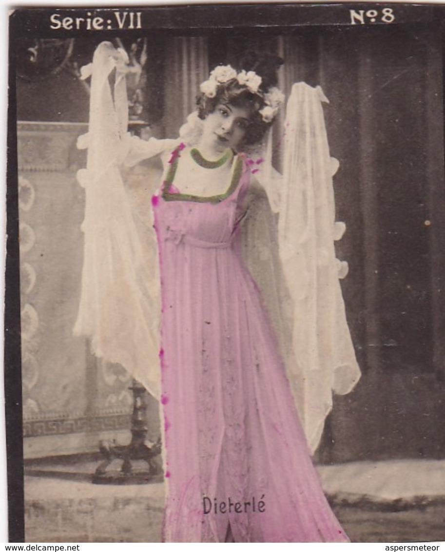 DIETERLE. HABANILLOS LA PLATA. COLORISE. CARD TARJETA COLECCIONABLE TABACO. CIRCA 1915 SIZE 4.5x5.5cm - BLEUP - Berühmtheiten
