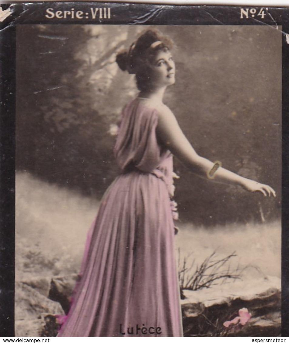 LUTECE. HABANILLOS LA PLATA. COLORISE. CARD TARJETA COLECCIONABLE TABACO. CIRCA 1915 SIZE 4.5x5.5cm - BLEUP - Berühmtheiten