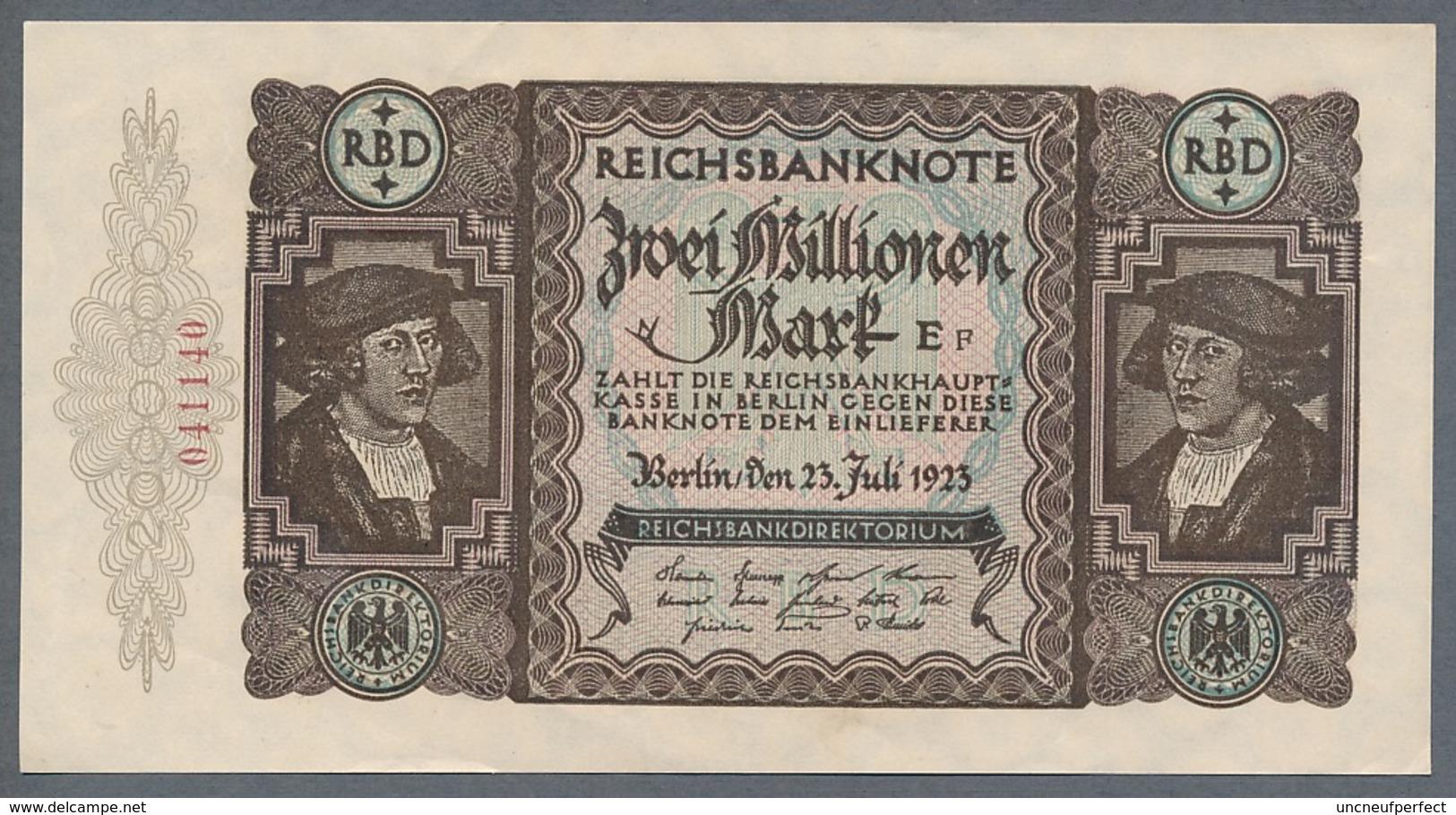 P89 Ro89a DEU-101a.  2 Million Mark 19.11.1923 AUNC+ Pas De Plis!!! - [ 3] 1918-1933 : Repubblica  Di Weimar