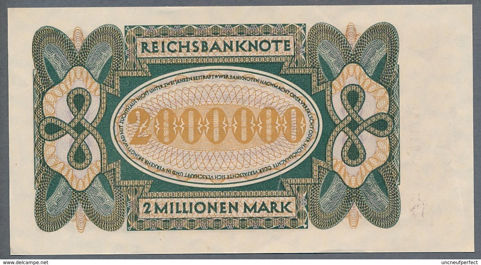 P89a Ro89a DEU-101a.  2 Million Mark 19.11.1923 AUNC+ Pas De Plis!!! - [ 3] 1918-1933 : Repubblica  Di Weimar