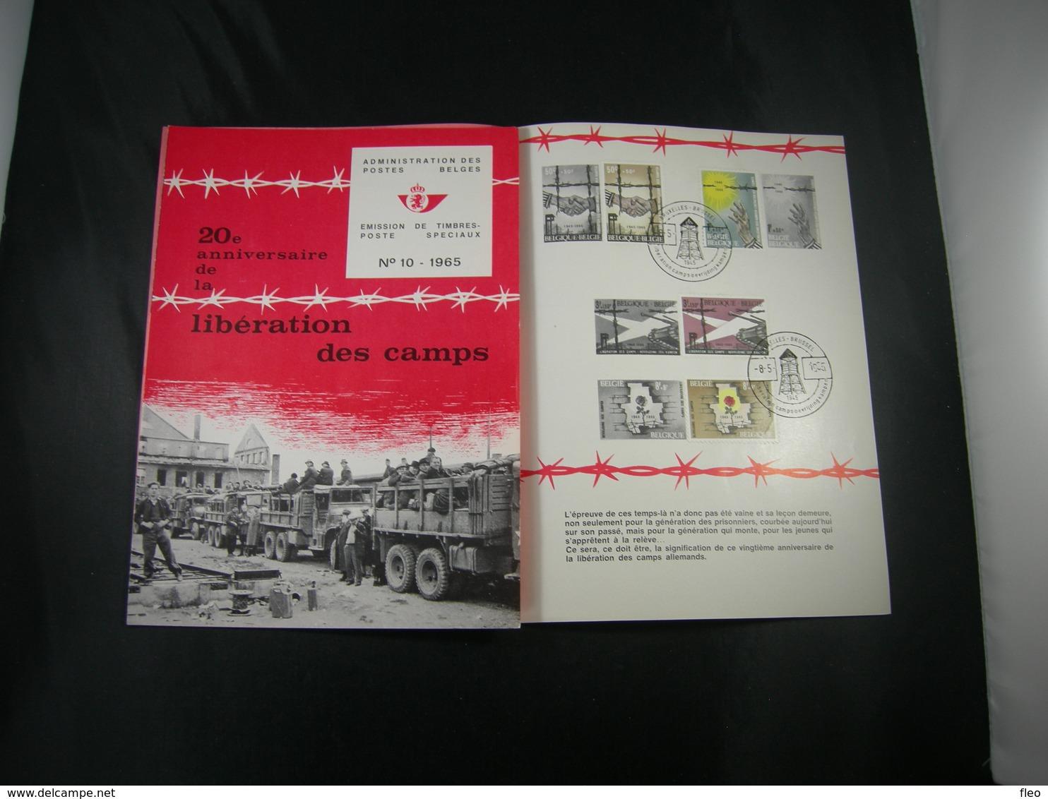 """BELG.1965 1329/1332 FDC Folder Fr.  : """" Libération Des Camps/bevrijding Der Kampen """" - FDC"""