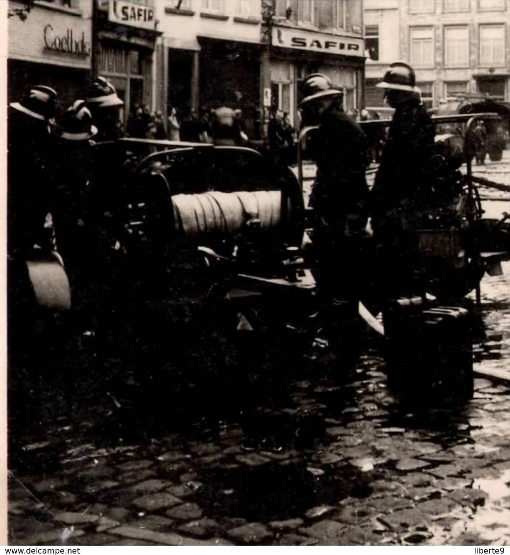 Maartenskerk Brandt 1947 Aalst Alost - Photo C.6cm X2 Incendie église St Martin Pompiers Belgique - Automobiles
