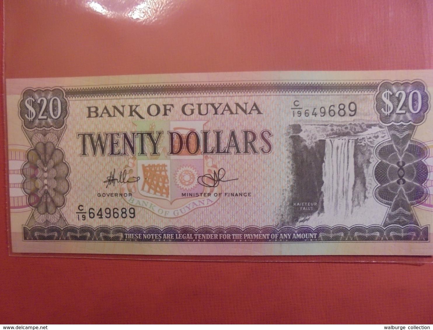 GUYANE 20$ NON-DATE PEU CIRCULER/NEUF - Guyana