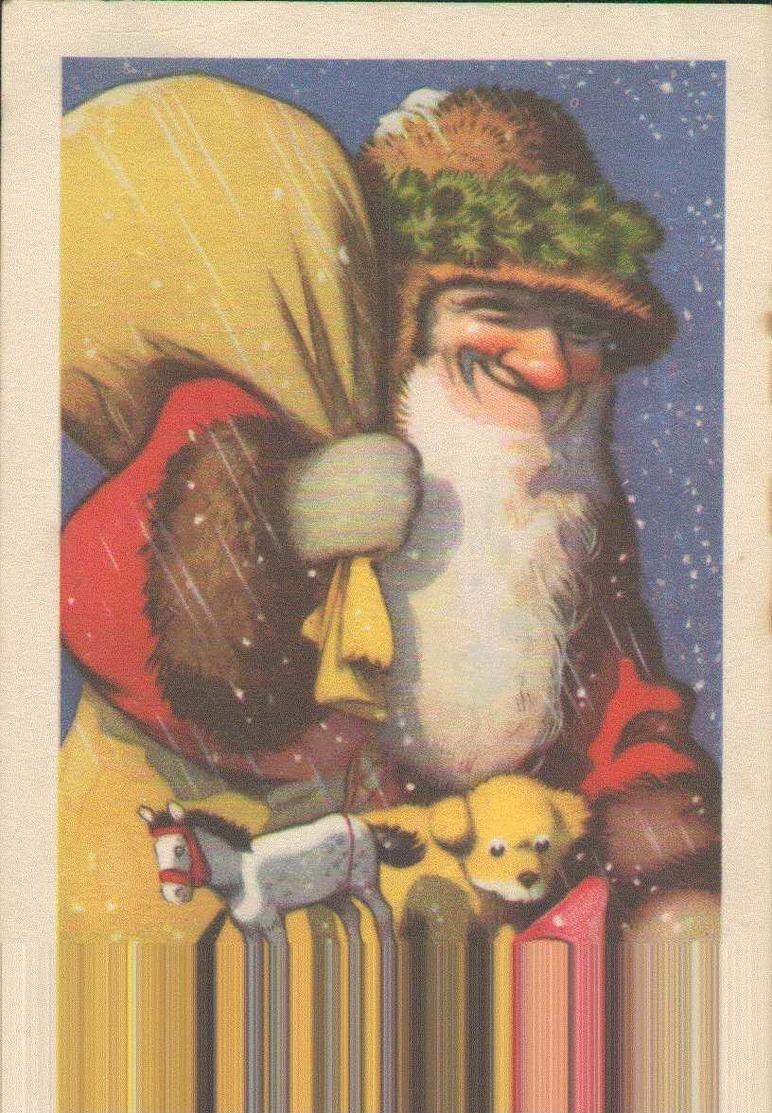 Weihnachtsmann, Künstler-Postkarte Zeichner, Signiert Fritz Baumgarten, Santa Claus, Feiern & Feste - Santa Claus