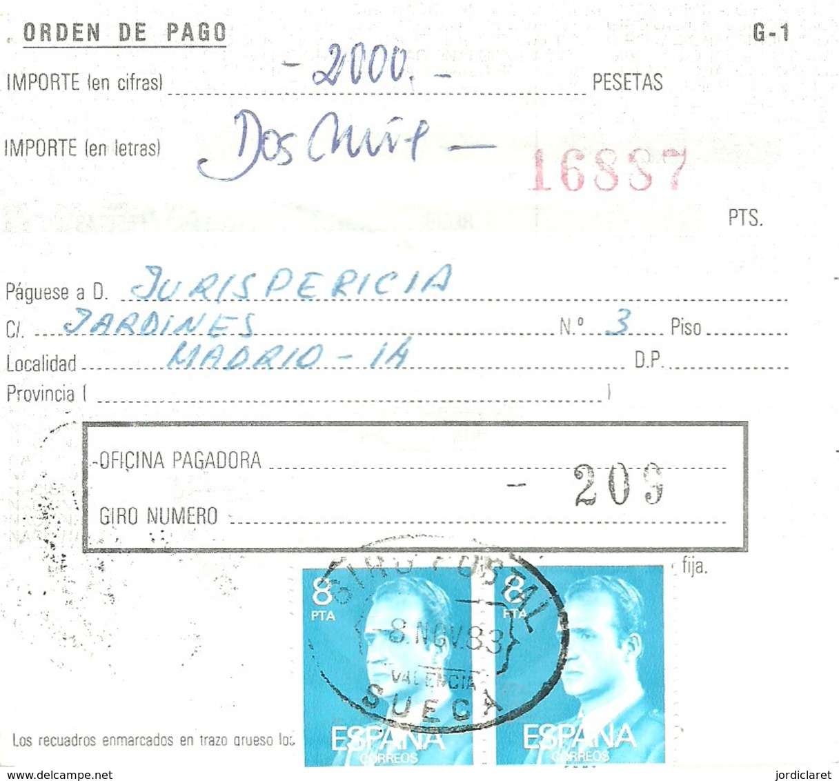 GIRO 1983 SUECA - 1981-90 Cartas
