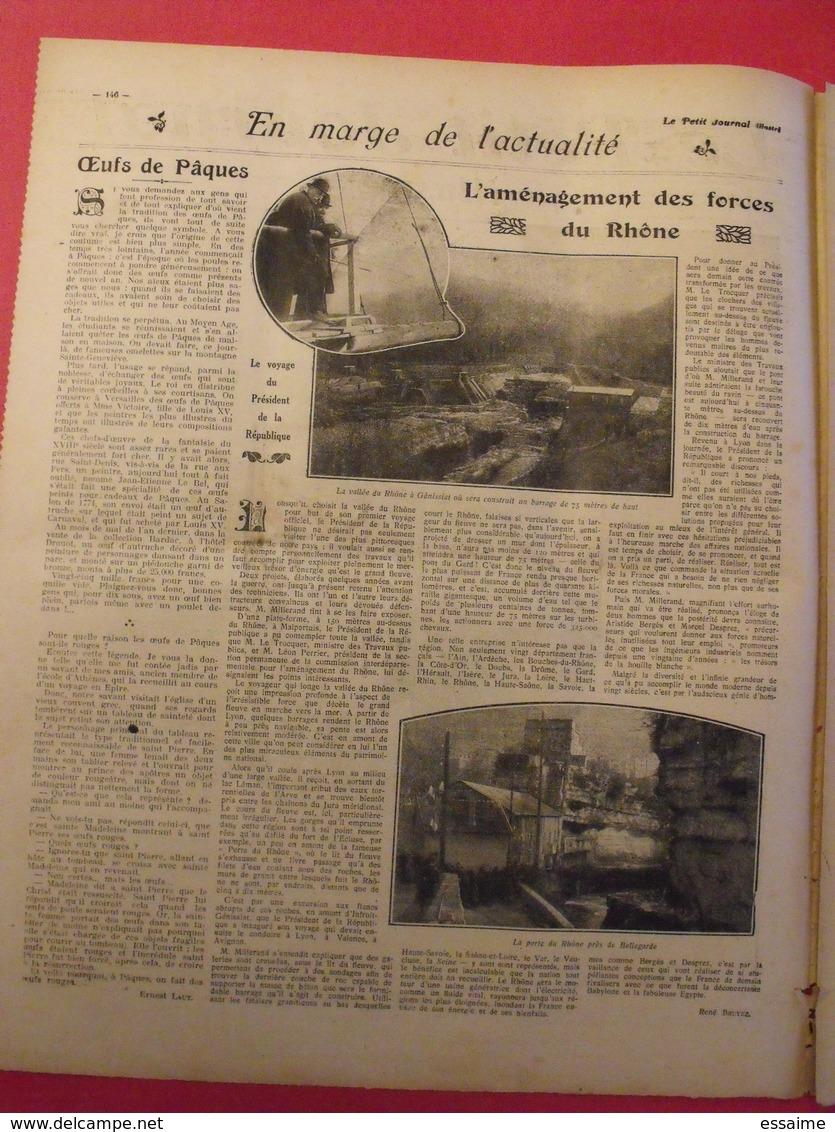 Le Petit Journal Illustré 27 Mars 1921. Hydravion Caproni Mistinguett Invention De La TSF Branly Marconi Meurtre Dato - 1900 - 1949