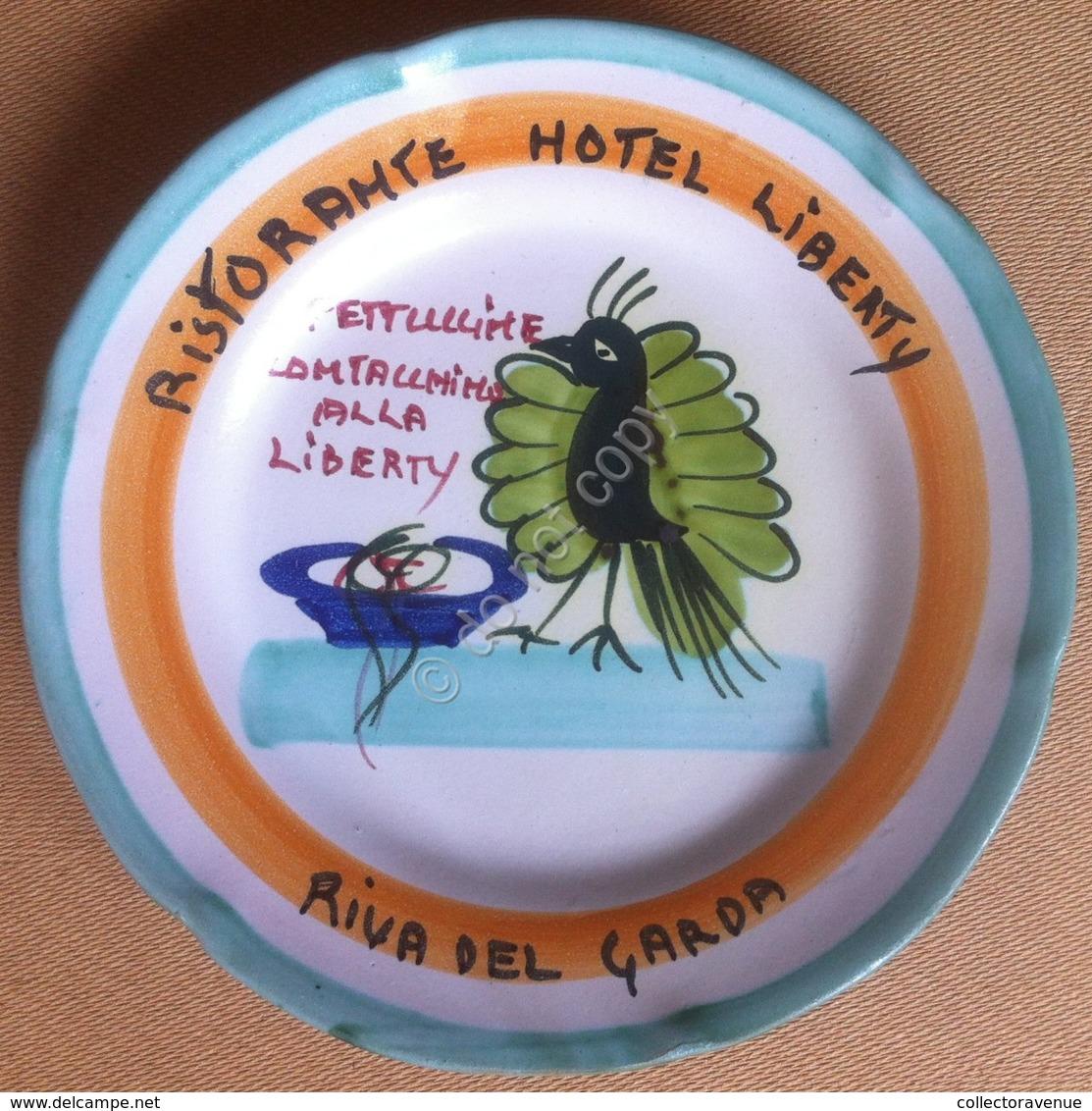 Piatto Buon Ricordo - Riva Del Garda - Liberty - Fettuccine (2° Bordo Verde) 11G - Oggetti 'Ricordo Di'