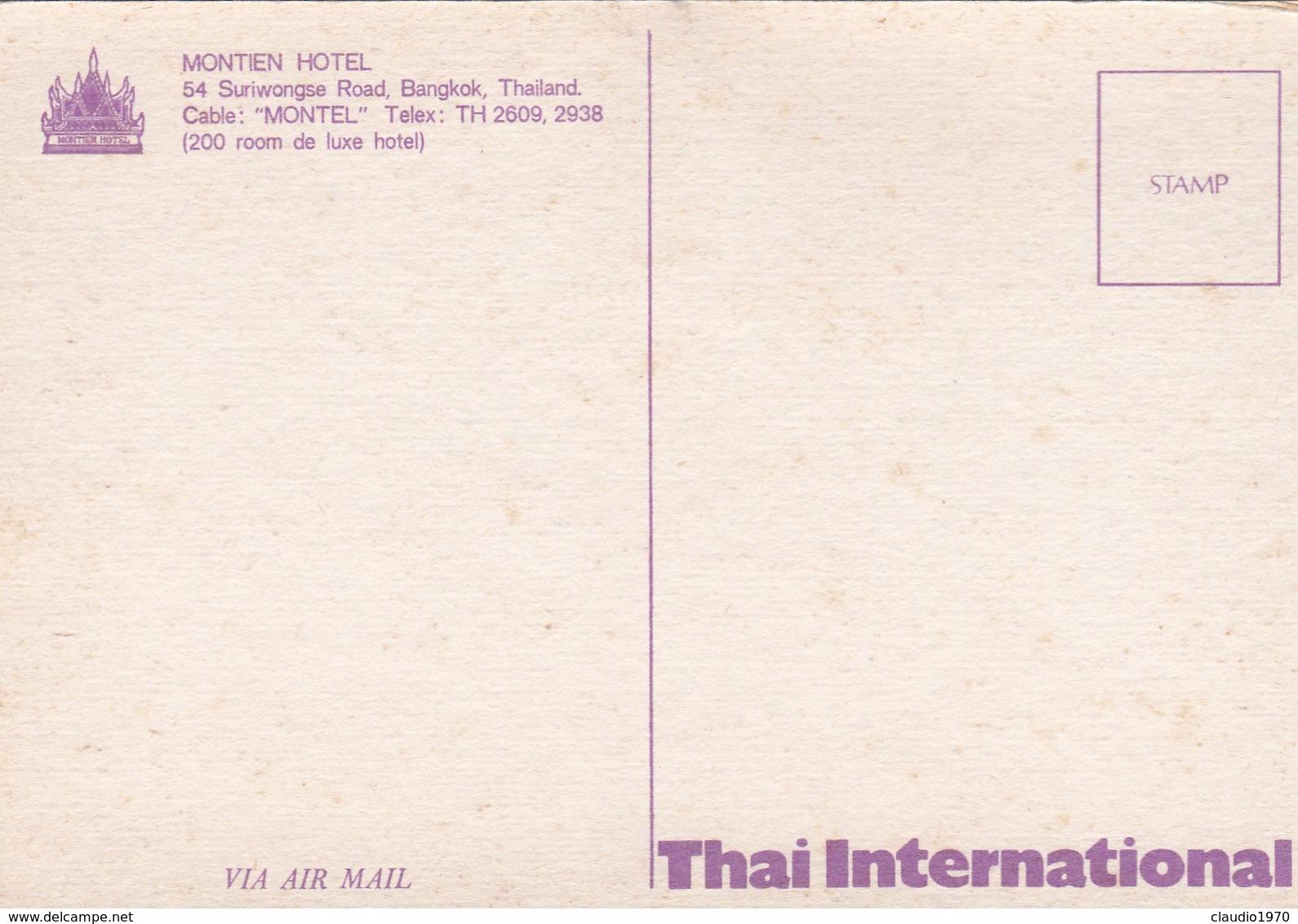 CARTOLINA - POSTCARD - TAILANDIA - BANGKOK -  MONTIEN HOTEL - Tailandia