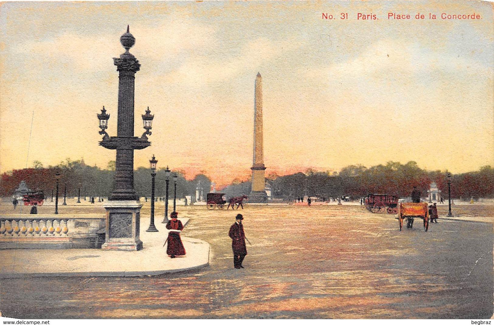 PARIS     PLACE DE LA CONCORDE   CARTE TOILEE - Autres