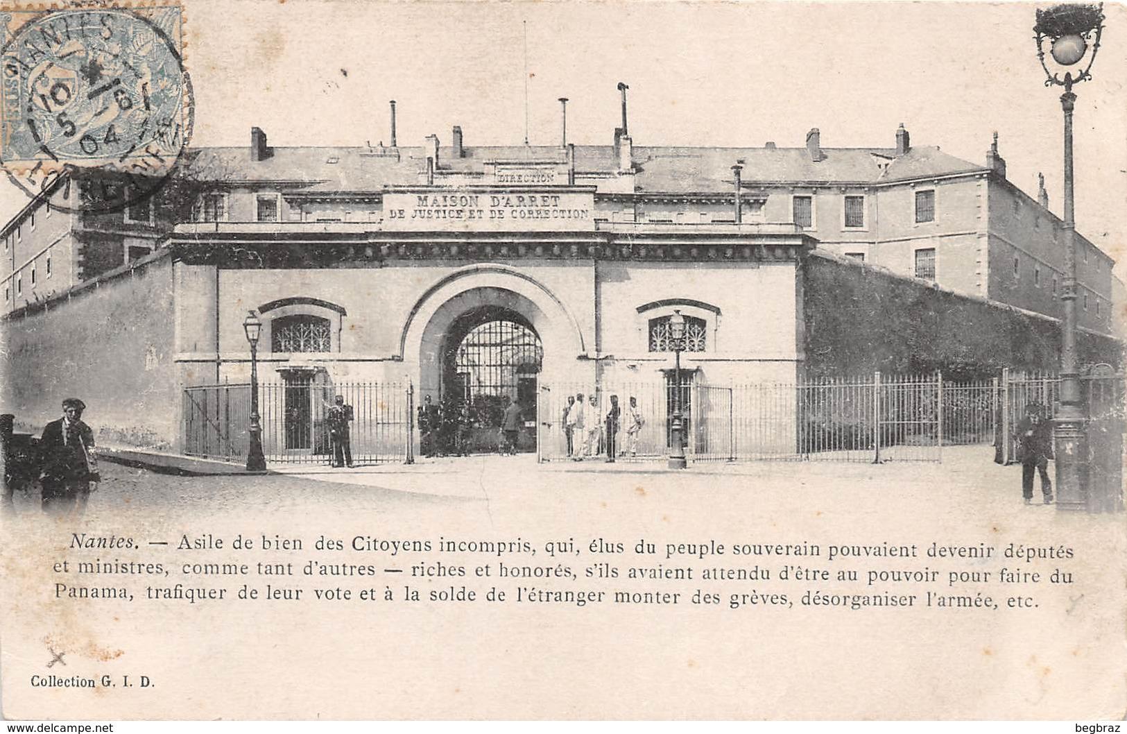 NANTES     MAISON D ARRET   PRISON - Nantes