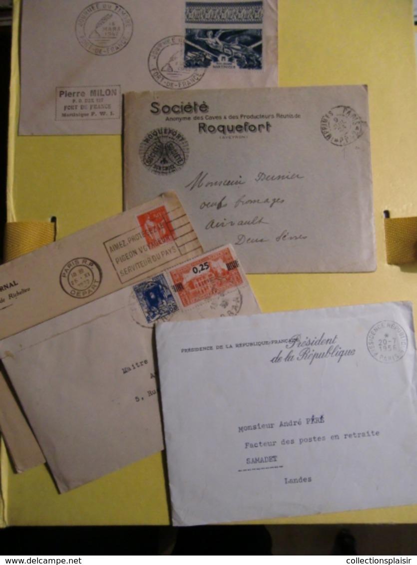 ENVIRON 280 LETTRES CLASSIQUES SEMI MODERNES MAJORITE FRANCE ET QUELQUES UNES ETRANGER LIQUIDATION - Collections (sans Albums)
