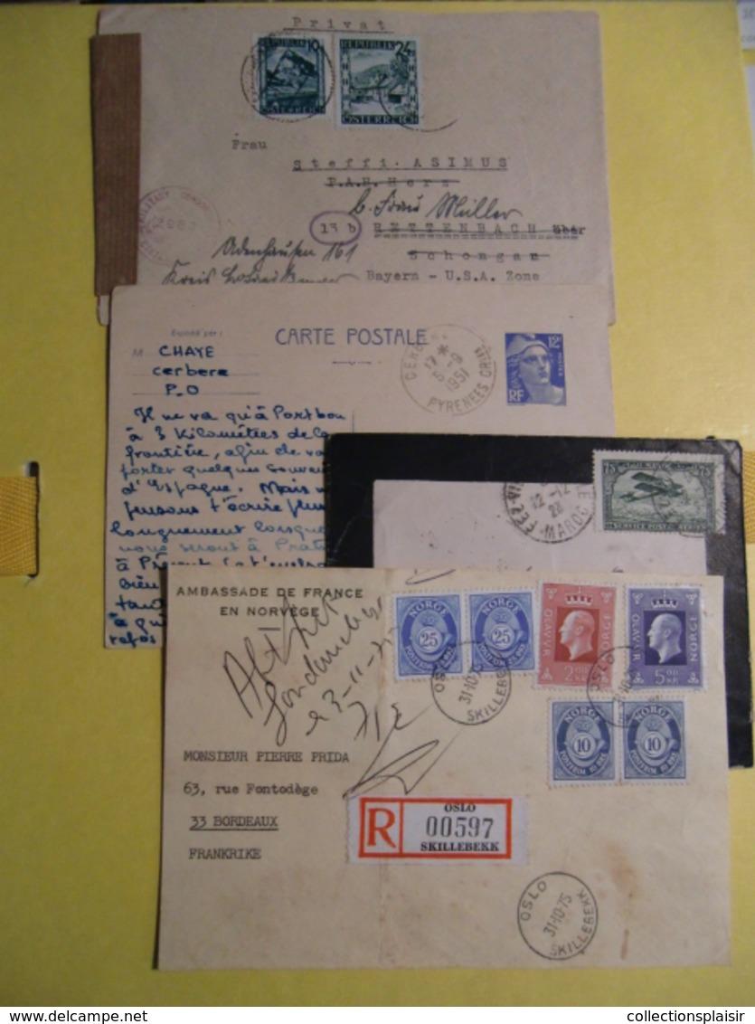 ENVIRON 280 LETTRES CLASSIQUES SEMI MODERNES MAJORITE FRANCE ET QUELQUES UNES ETRANGER LIQUIDATION - Briefmarken