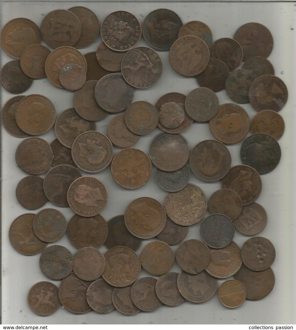MONNAIE ,  LOT DE 70 MONNAIES , 510 G, Frais Fr 14.50 E - Kilowaar - Munten