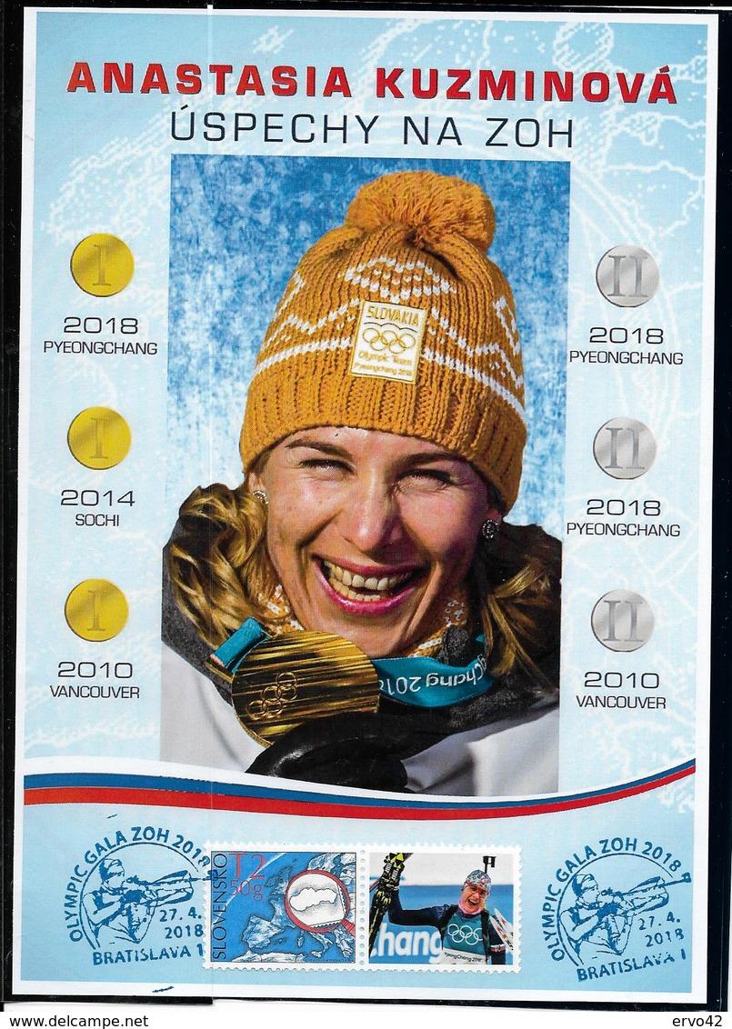 E633-SLOVAKIA- 2018 -WINTER OLYMPIC GAMES PYEONGCHANG 2018 -SUVENYR SHEET - Winter 2018: Pyeongchang