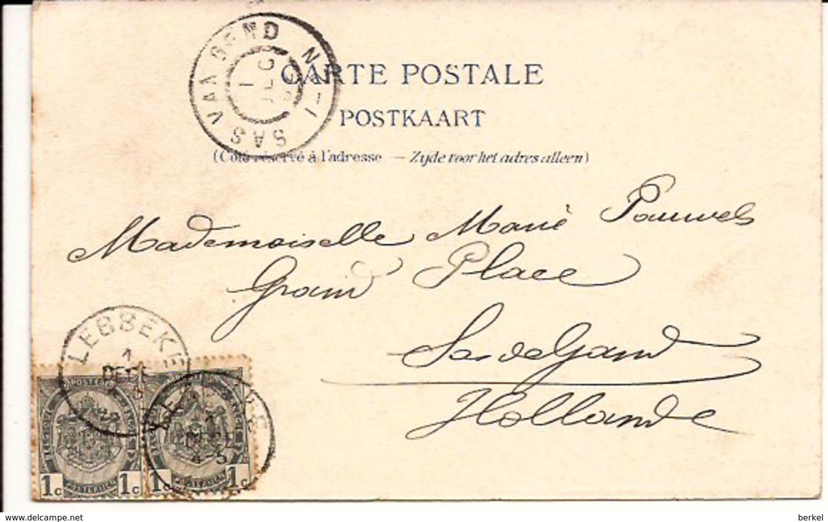 LEBBEKE KASTEEL Van M. Du Bois - Verwilghen 1902 Sas V Gent Grootrondstempel  6/177 /d2 - Lebbeke