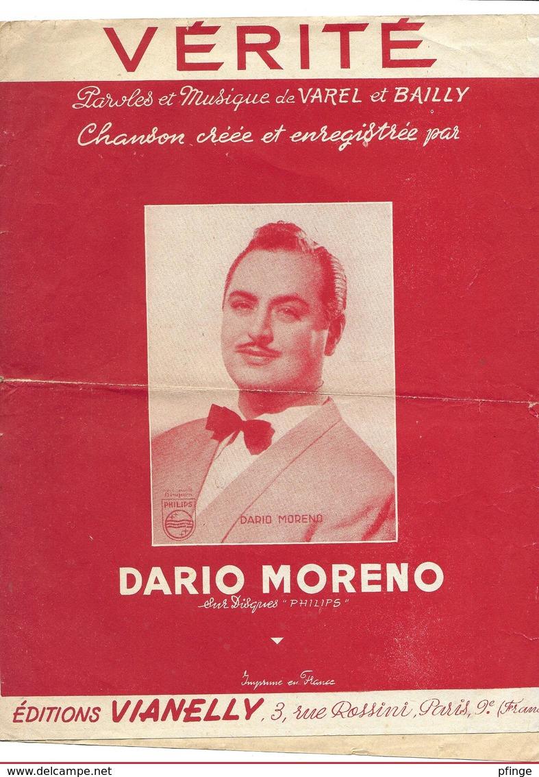 Vérité - Dario Moreno ( Varel Et Bailly), 1954 - Musique & Instruments