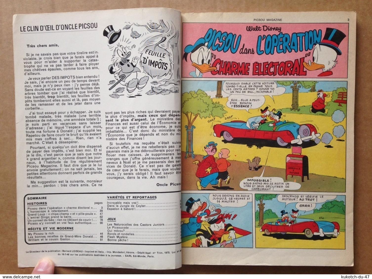 Disney - Picsou Magazine - Année 1973 - N°20 - Picsou Magazine