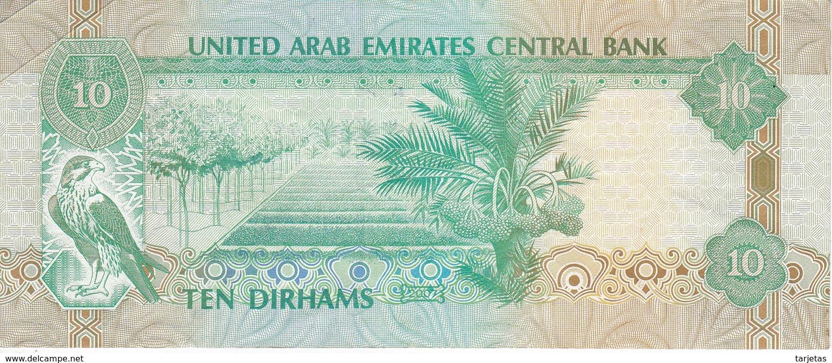 BILLETE DE EMIRATOS ARABES DE 10 DIRHAMS DEL AÑO 2007 (BANKNOTE) - Emiratos Arabes Unidos