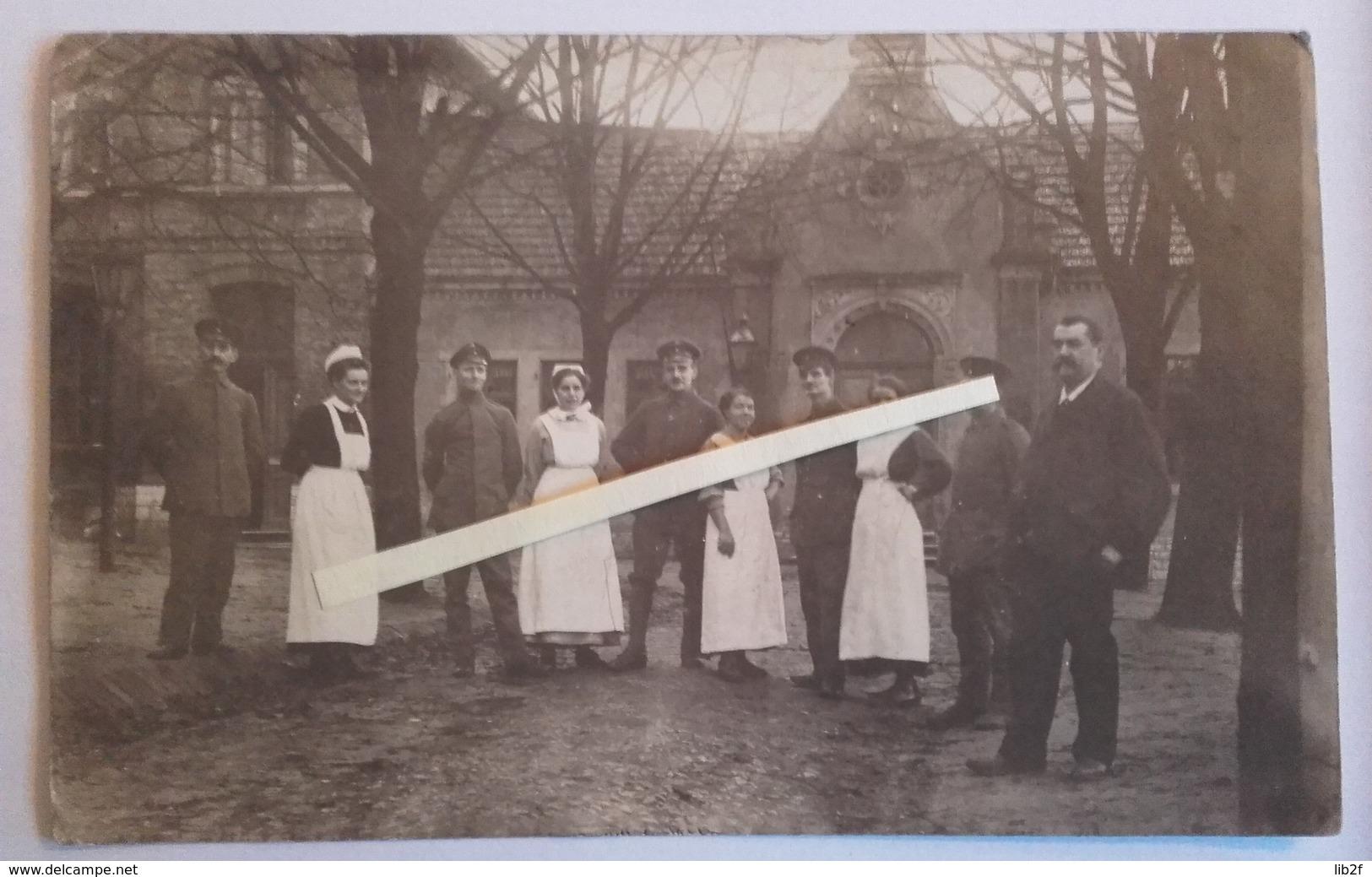 1914 Hopital Allemands Infirmières Croix Rouge Rote Kreuz Bléssés Convalescents Tranchée Poilus 1914 1918 WW1 - War, Military