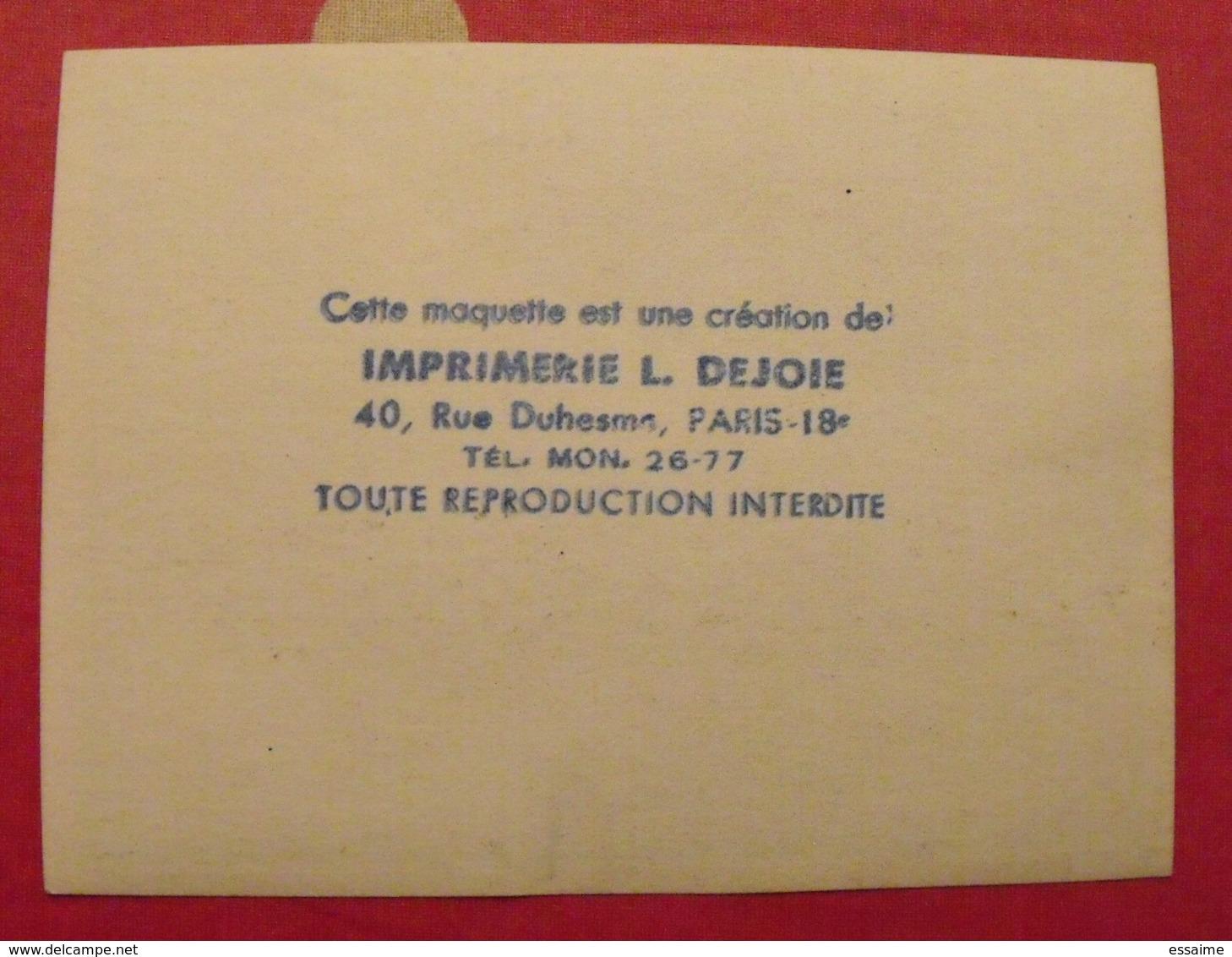 Maquette Gouache D'une étiquette De Vin. Plume Au Vent. Vins Chevrier Coulanges-les-Nevers. Dejoie Vers 1960 - Alcools