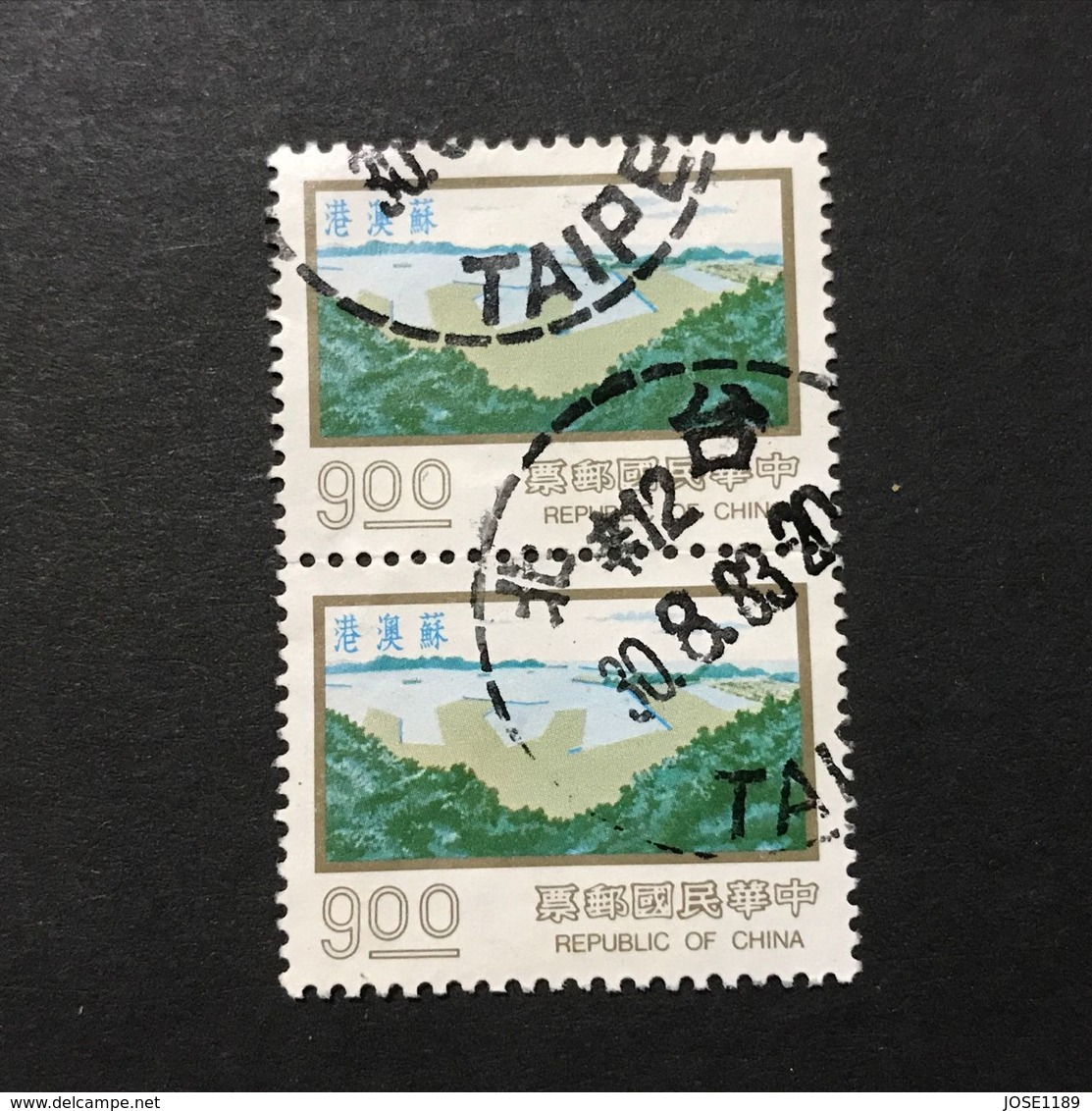 ◆◆◆Taiwán (Formosa)  1977  Designs As 1976 Issue.   $9 X2   USED   AA2327 - 1945-... República De China