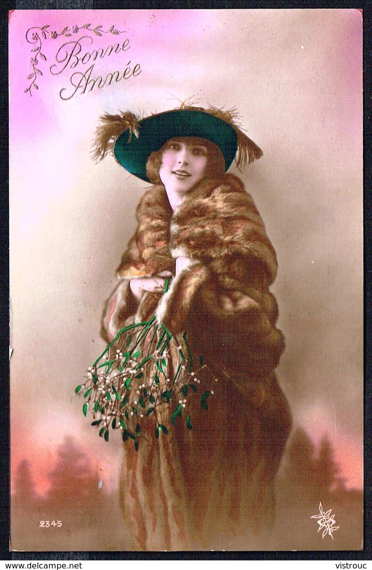 FEMME - CP - Jeune Femme En Mateau De Fourrure Et Chapeau - Circulé - Circulated - Gelaufen - 1921. - Femmes
