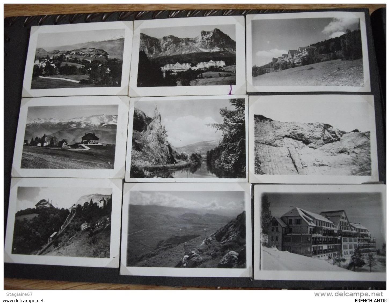 ALBUM PHOTO CUIR DIEPPE AVEC 45 PHOTOS PAYSAGE SUISSE 30X21CM - Albums & Collections