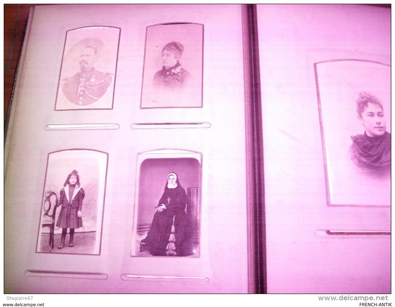 ALBUM DE FAMILLE 68 PHOTO PORTRAIT DONT 3 SABLAISES - Albums & Collections