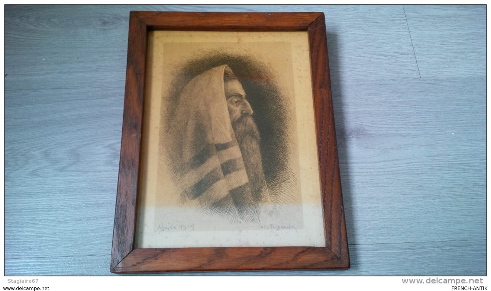GRAVURE EAU FORTE RABBIN 1909 JUDAISME - Old Paper