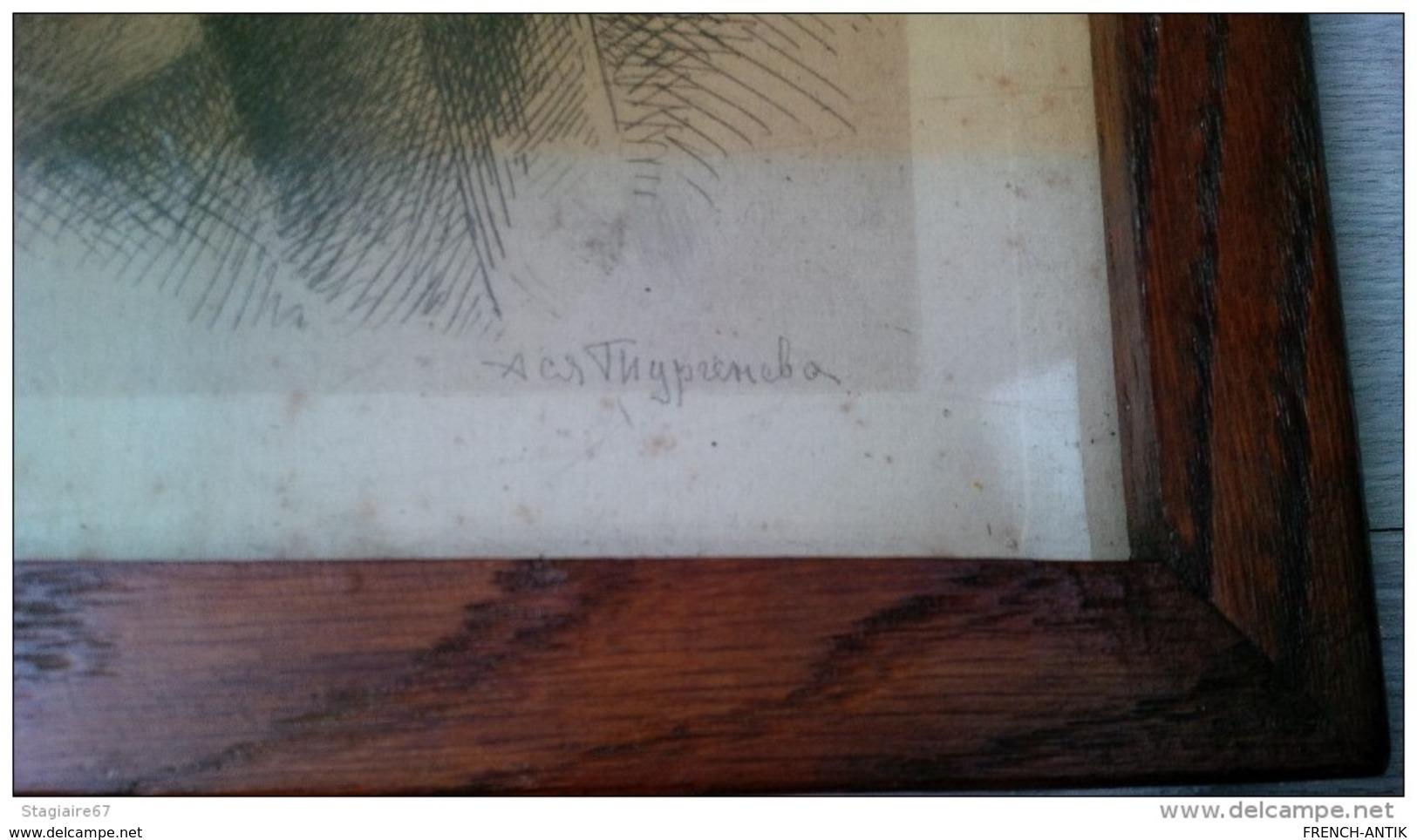 GRAVURE EAU FORTE RABBIN 1909 JUDAISME - Vecchi Documenti