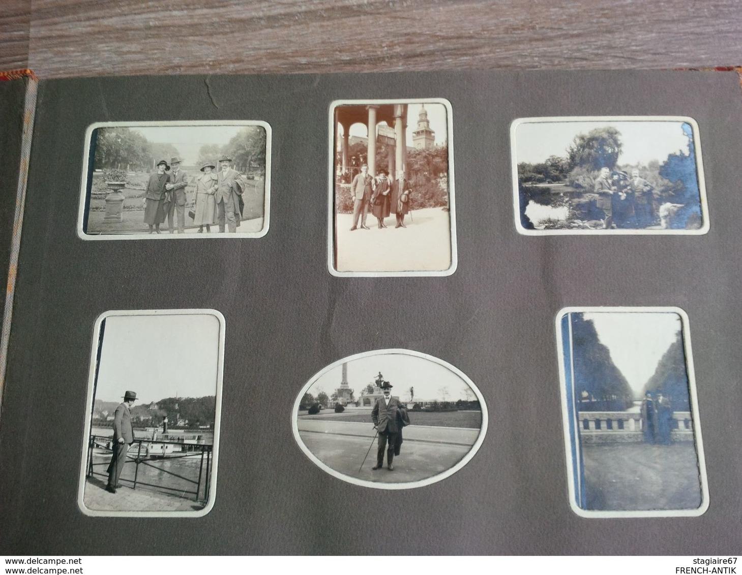 ALBUM PHOTO DE FAMILLE ALSACE STRASBOURG SUISSE GASTHOF PAYSAGE ETC... - Albums & Collections