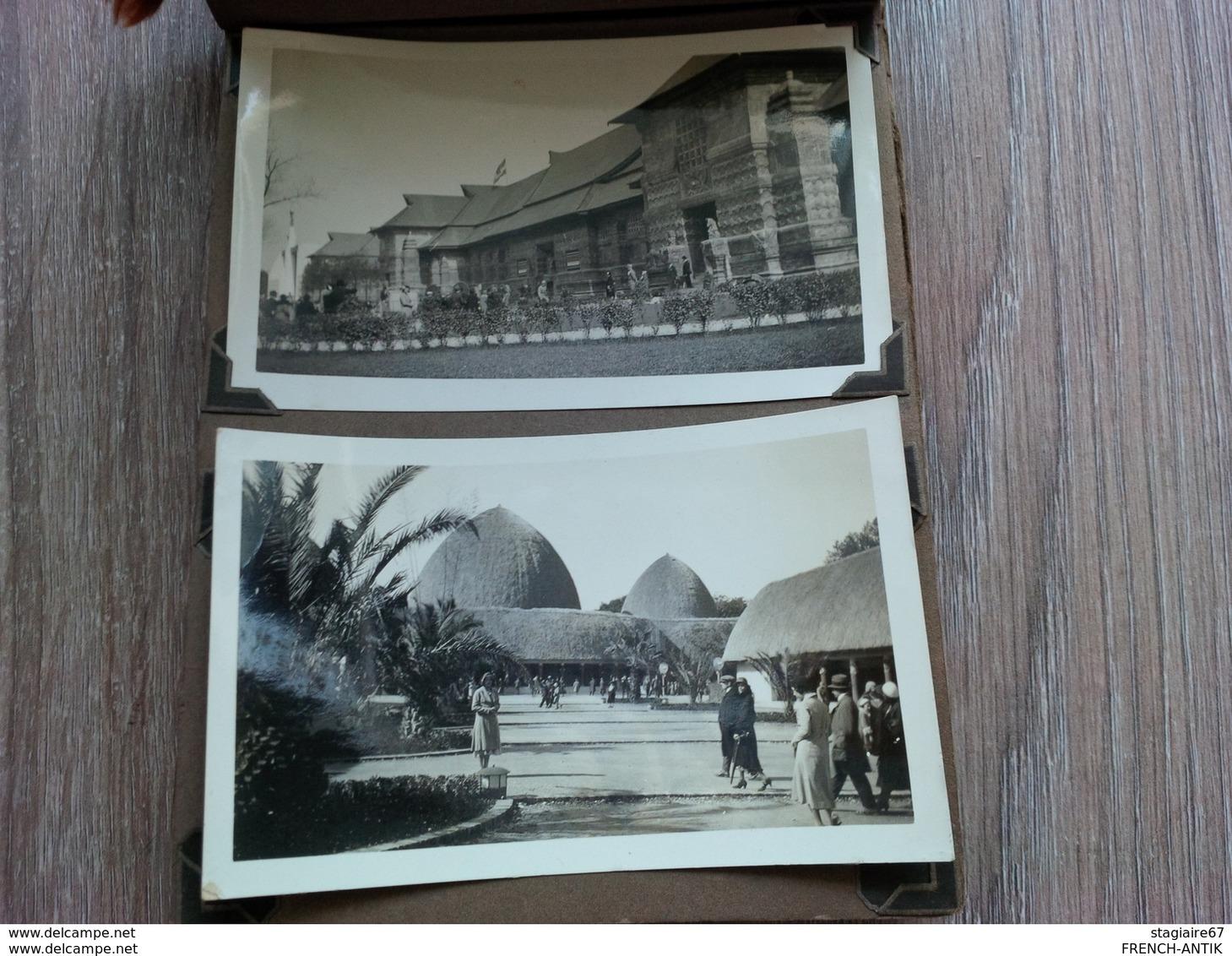 ALBUM PHOTO EXPOSITION COLONIALE PARIS 1931 PHOTO AMATEUR - Albums & Collections