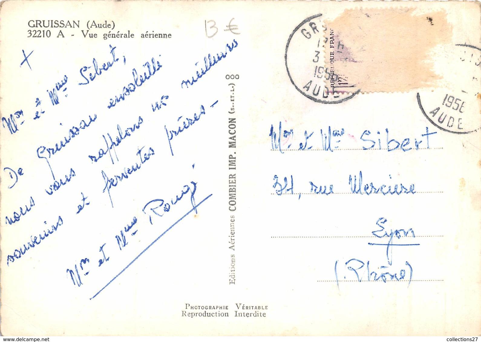 11-GRUISSAN- VUE GENERALE AERIENNE - France