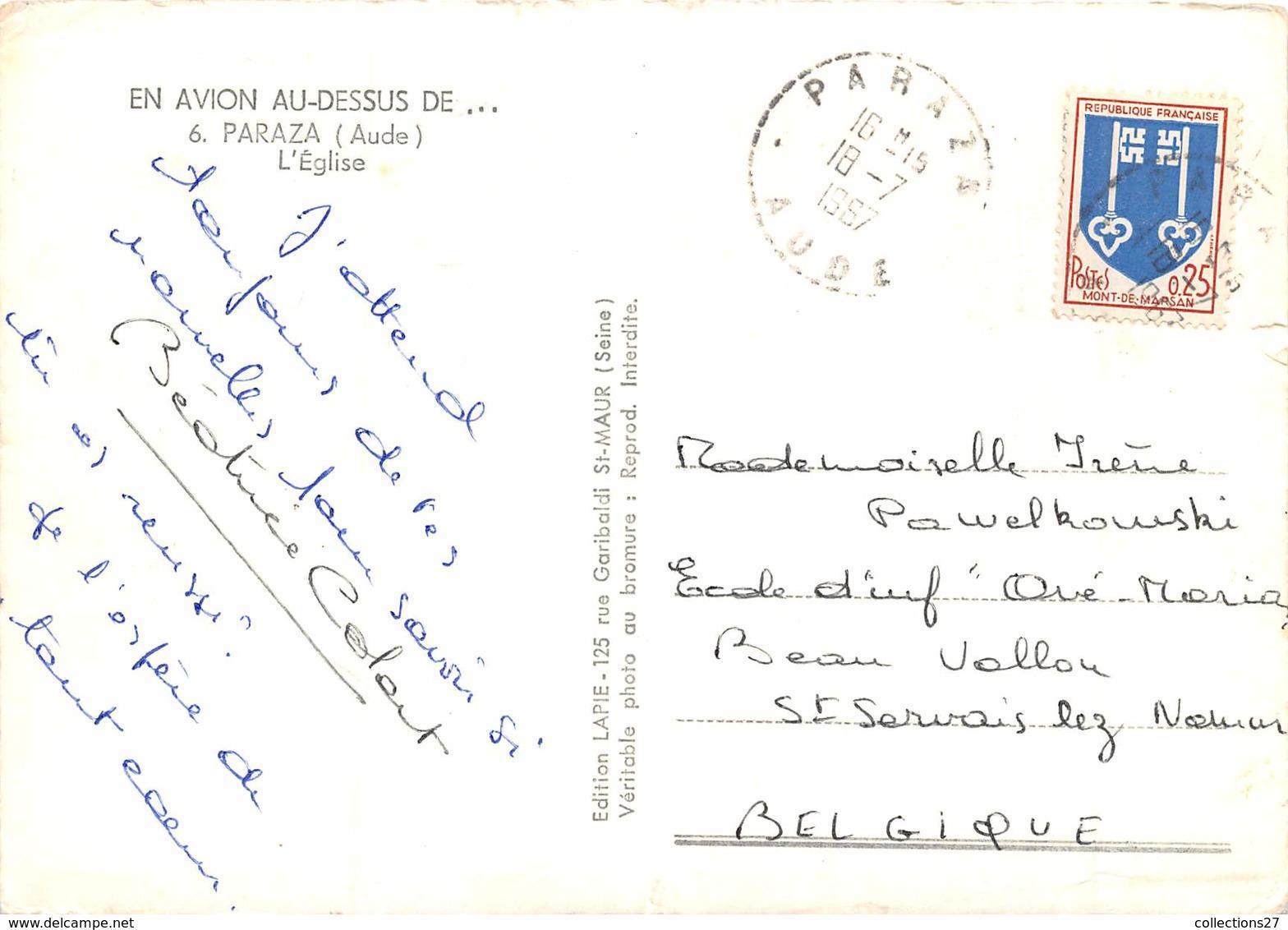 11-PARAZA- VUE DU CIEL L'EGLISE - France