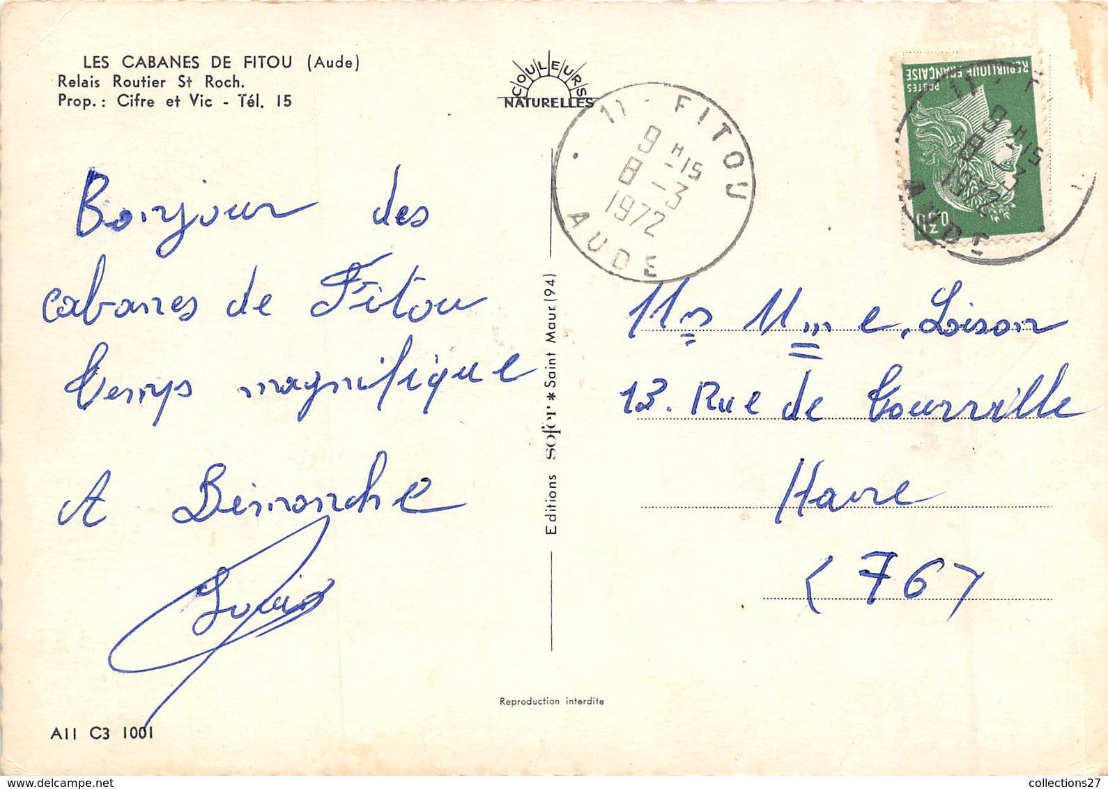11-LES-CABANES-DE-FITOU- RELAIS ROUTIER ST-ROCH - France