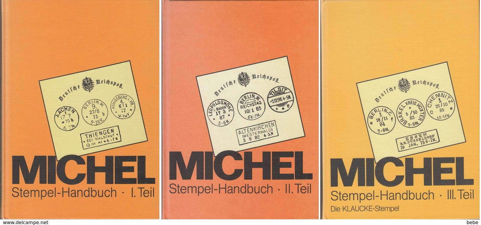 Stempel-handbuch Catalogues Michel  En 3 Tomes Parfait état - Allemagne