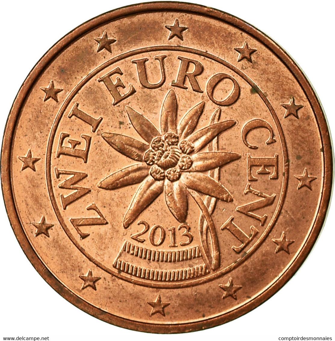Autriche, 2 Euro Cent, 2013, TTB, Copper Plated Steel - Autriche