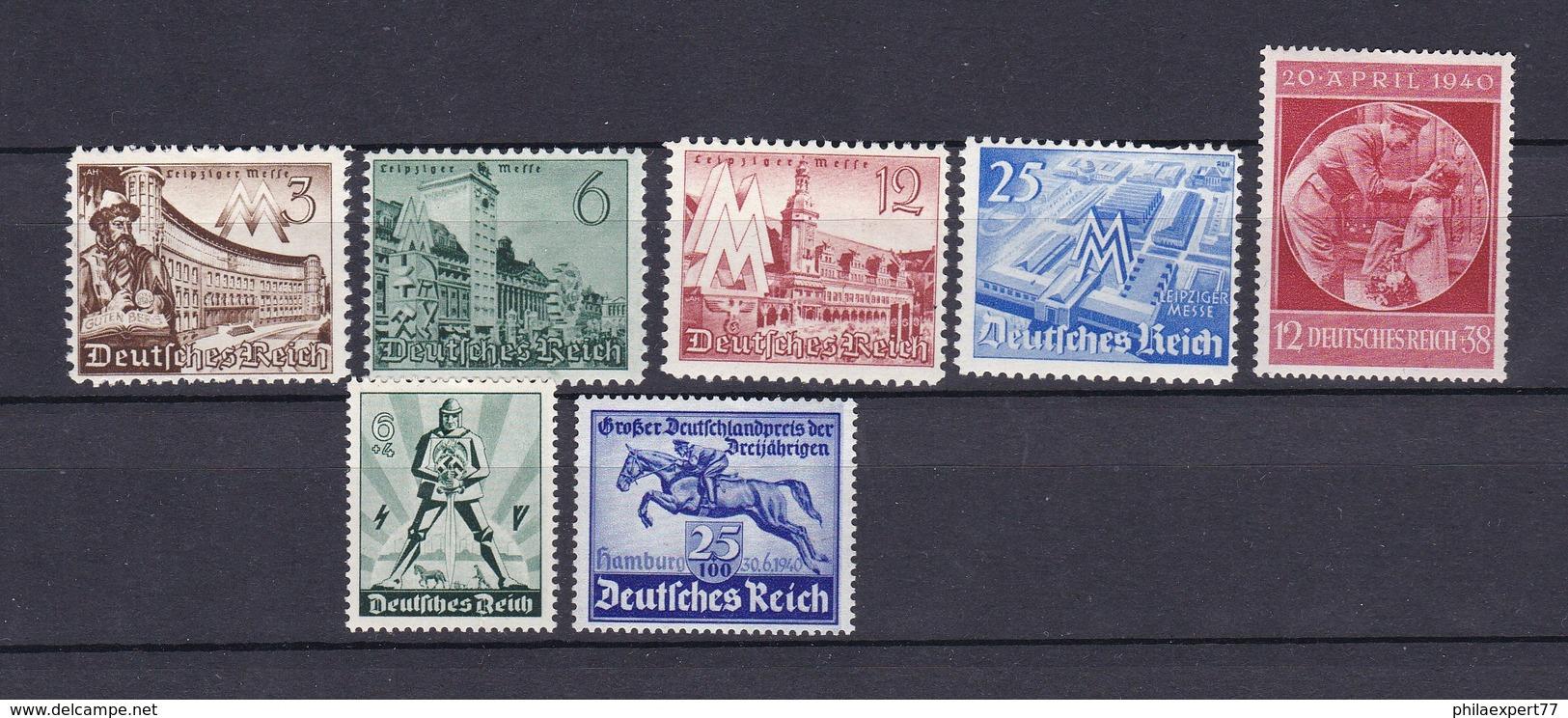 Deutsches Reich - 1940 - Michel Nr. 739/742+744/46 - Ungebr. - Deutschland