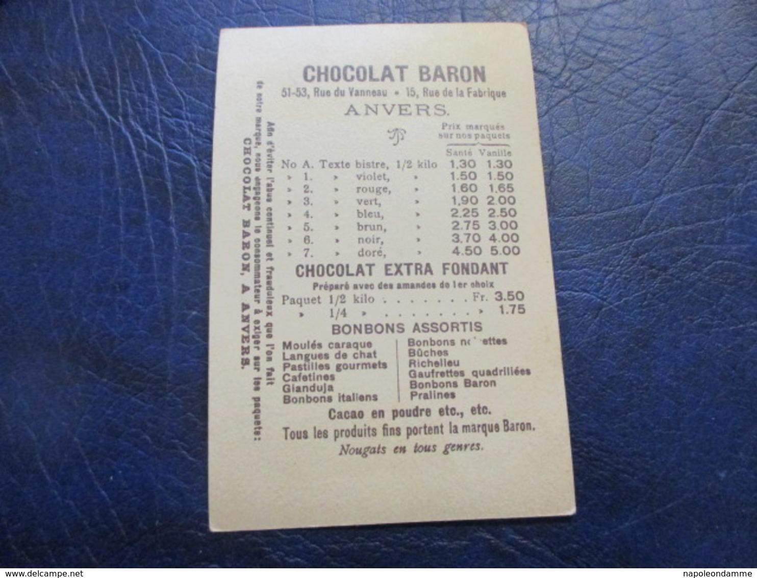 Chromo, Chocolat Baron Anvers - Chocolate