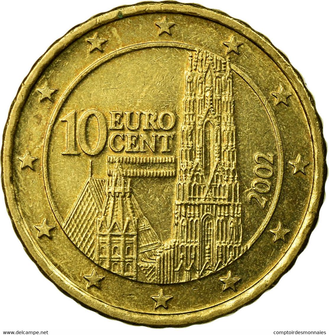 Autriche, 10 Euro Cent, 2002, TTB, Laiton, KM:3085 - Autriche