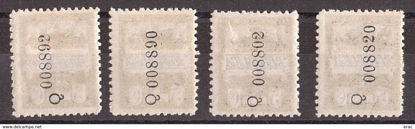 Barcelone - 1931 - N° 13 + 13a + 13b + 13c - Neufs * (tc) - 4 Surcharges Bleues Différentes - Barcelone